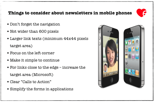 Things to consider about newsletters in mobile phones